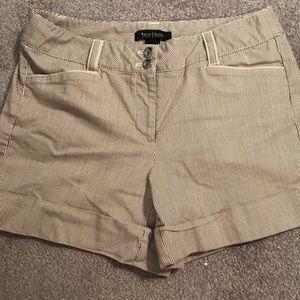 White House Black Market Cuffed Striped Shorts  4